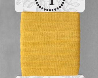 Naturally Dyed 12mm Ribbon-Soft Yellow