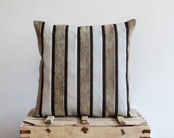 Decorative Striped Pillow Cover - 20x20 Pillow Cover - Upholstery Pillow - Decorative Pillows, Accent Pillows, Throw Pillow Covers
