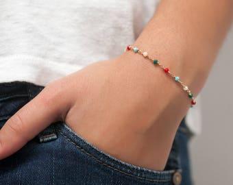 Rosary Stacking Bracelet - Gold Fill - Rosary Style Bracelet - Layering Bracelet