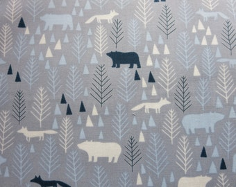 Grey Icy Pines DS021917- Dear Stella - The Big Chill by Dear Stella Collection In Animals, Bugs & Insects