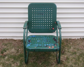 ON SALE  Vintage 1950's/1960's  Metal Rocking Chair    PICK-Up Only!!