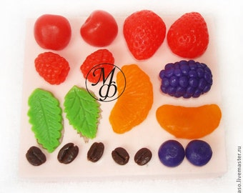 Silicone soap mold Berries