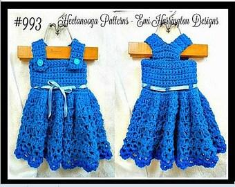 CROCHET PATTERN, girl's dress pattern, baby dress pattern, crochet baby dress, crochet girls dress, #993