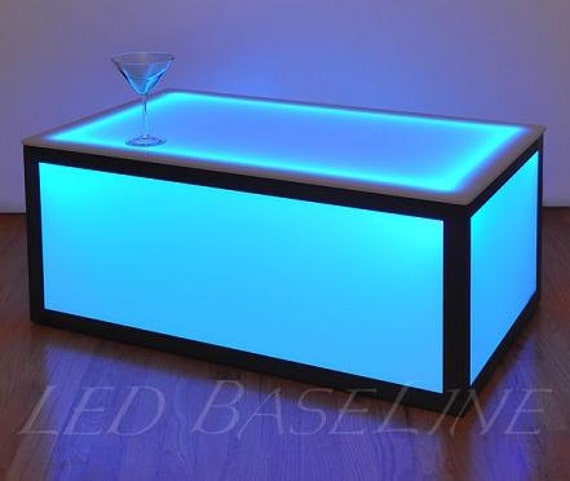 Amazing 16 Color Changing Cube Coffee Table Display Glass