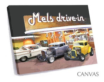 YOUR CAR at Mels Drive-in on Canvas Art