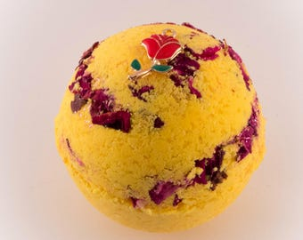 Belle Beauty and The Beast inspired bath bomb