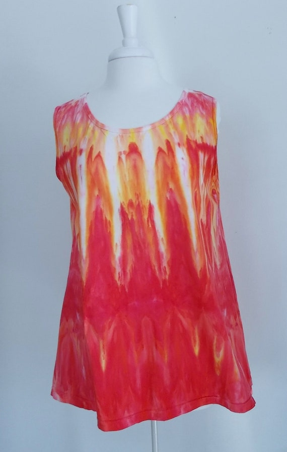 Ice dye tie dye  Hi-Lo Women's Large Sleeveless Top