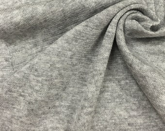 Cotton Blend Jersey Knit Fabric (Wholesale Price Available By The Bolt) USA Made Premium Quality- 1818RH10 Heather Grey - 1 Yard