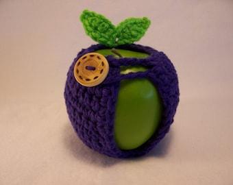 Handmade Crocheted Apple Cozy - Crochet Apple Cozy  in  Purple