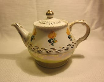 Vintage Ellgreave Wood & Sons, England Ironstone teapot, numbered