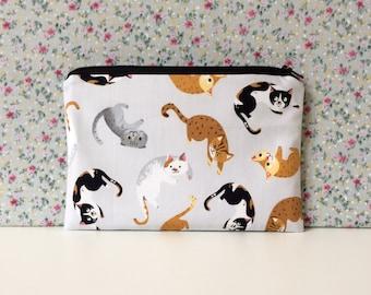 Cat Print Make Up Bag