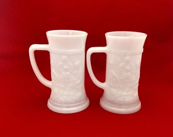 Tiara Opaque Beer Steins - Set of Two (2)