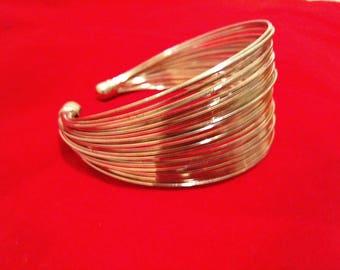 Silver metal cuff bracelet