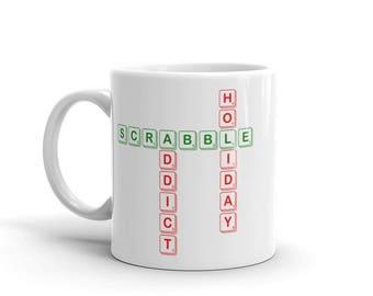 Scrabble Addict (Holiday) Mug