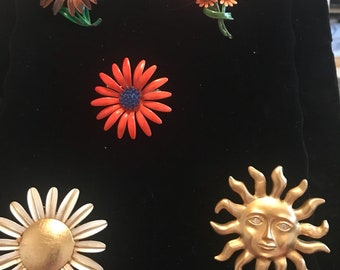 Vintage 60-70's enamel pins and two more recent! Selling take ALL!