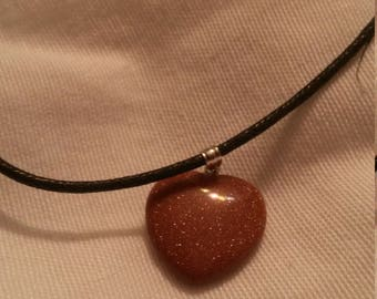 Sparkly Brown Choker