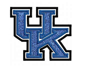 UK Applique Embroidery Design 4x4 5x7 6x10 University Kentucky INSTANT DOWNLOAD