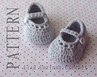 Crochet Baby Booties PATTERN, Baby Mary Jane Shoes, Crochet Baby Shoes PATTERN, Baby Girl Shoes, Infant Booties