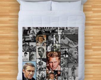 Steve McQueen Design Soft Fleece Blanket Cover Throw Over Sofa Bed Blanket