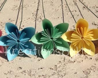 Map paper flower with stem origami flowerkusudama flower pastel origami paper flowers with stemskusudama flower bouquet flower arrangementcenterpiece mightylinksfo