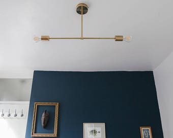 4 IN STOCK ready to ship / ELBRUS / Brass / Industrial / mid century / Sputnik / Pendant light / Handmade