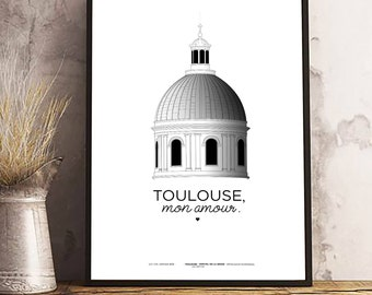 Displays Toulouse / serious Toulouse hospital / printed on A3 210 grams / TOULOUSE, my love.