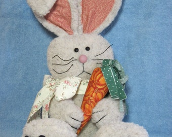 """Rabbit pattern:  """"A Carrot for Me"""" - #413"""