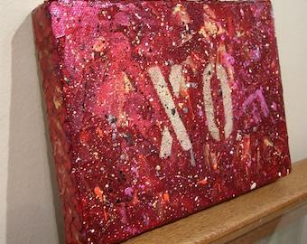 XO - original acrylic painting on canvas