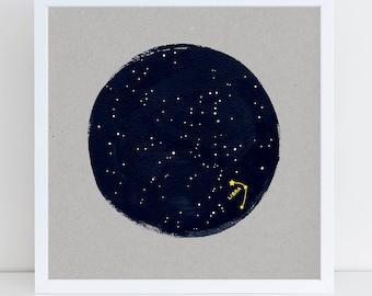 Constellation Birthday Print, Zodiac Print, Horoscope Print, Astrology Starsign Print