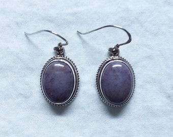 Purple Jade Earrings