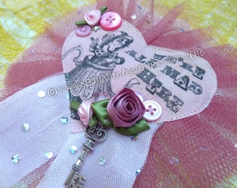 """SALE - Mad Hatter Rosette """"We're all mad here"""""""