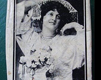 Theatrical Advertising for Marie Studholme - an English actress and singer c.1903 - Edwardian and Victorian Actress