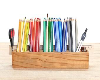 Pen stand jumbo cherry/cherry with magnetic holder pen Holder