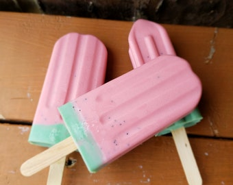 Strawberry Soap Popsicle, Popsicle Soap, Strawberry, Party Favors,