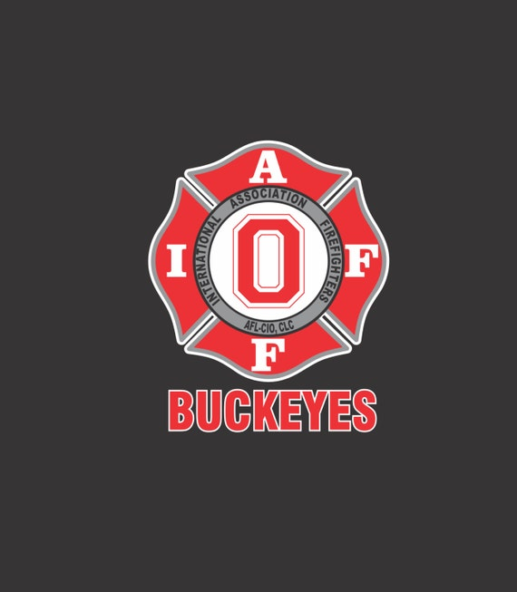 IAFF Ohio State Buckeyes Car Decal for Union Firefighters