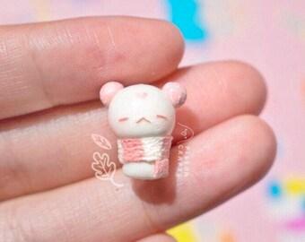 Pink pufferling species charm / planner charm / air dry clay charm / kawaii charm / bracelet charm /clay charm /kawaii jewellery /cute charm