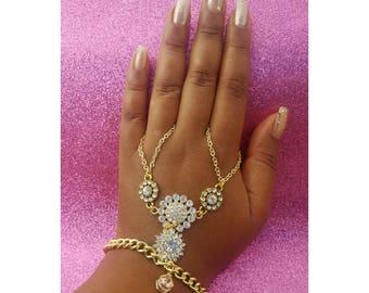 Hand bracelet, Hand Jewelry, Ring Bracelet, Hand Chain