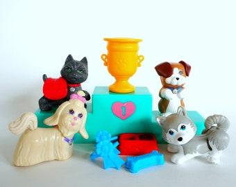 Vintage Littlest Pet Shop Prize Winning Pups Dog Playset Retro 90s Toy