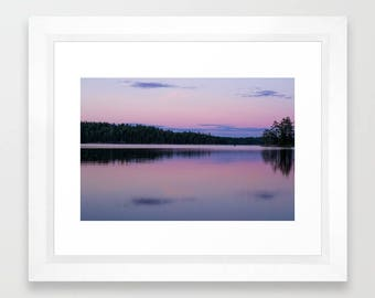 Nature Photography Prints, Sunset Photography Landscape, 8x10 Print Art Wall, 11x14 Print, Pink Wall Decor Living Room, Woodland Nursery Art