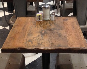 Restaurant Table Top,pub Table Top Small, Reclaimed Wood Bar Top, Bistro  Table