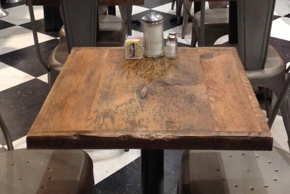 Restaurant Table Top Reclaimed Wood Bar Top ADD A BASE