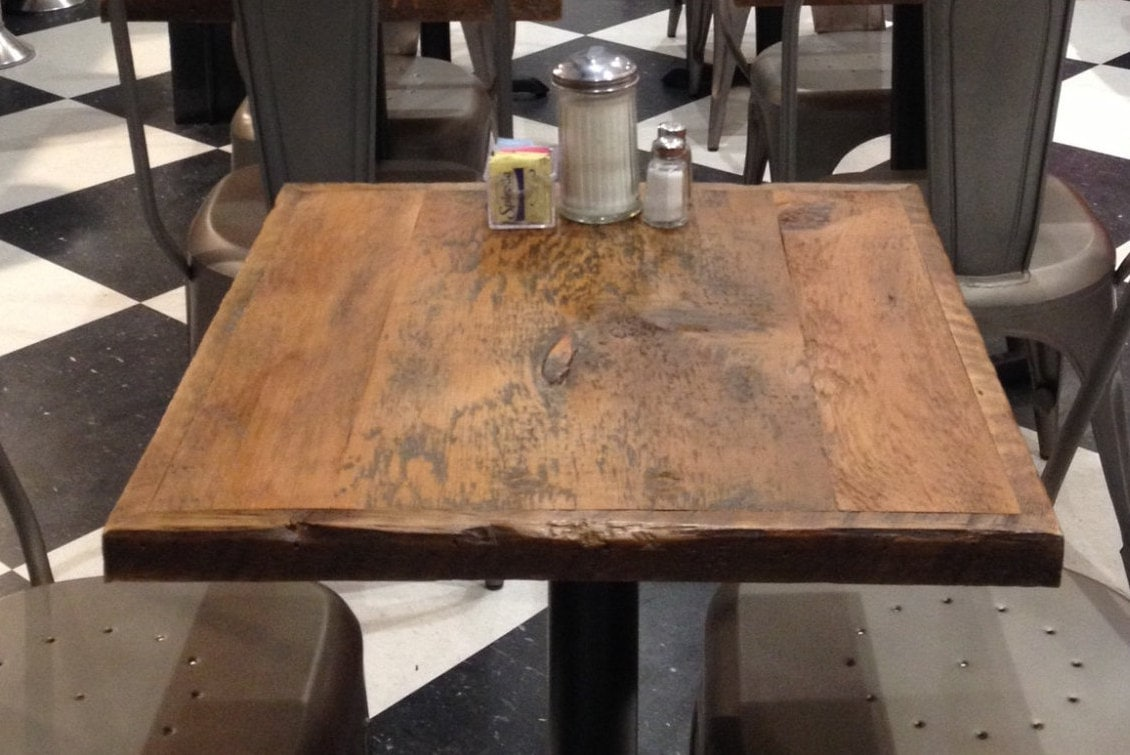 Wooden Bar Tables ~ Dining table top reclaimed wood bar toprestaurant