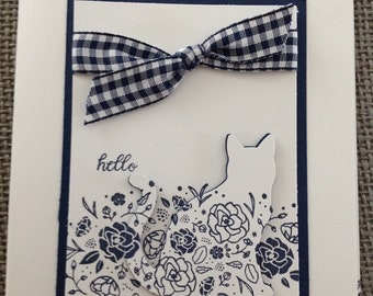 Hello Cat Eclipse Stampin Up Greeting Card