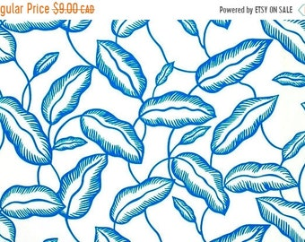 10% OFF - Leaves Blue - IKEA Avsiktlig Cotton Fabric