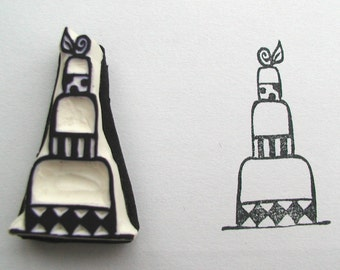 Petite 3 layer cake stamp