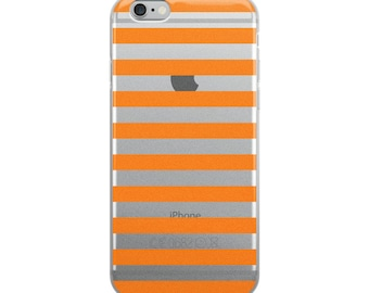 Horizontal Orange Stripes iPhone Case
