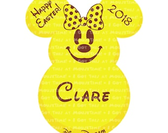 Easter Candy Ears Minnie - FIVE Color Options! - Iron-On OR Magnet