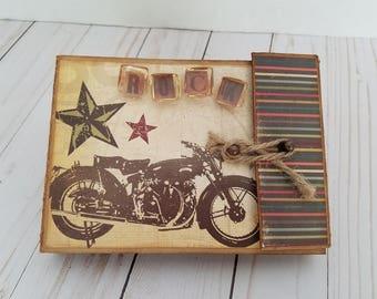 Rock vintage handmade scrapbook mini album