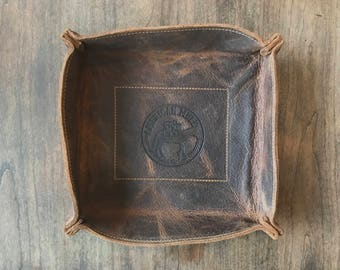 Leather Valet Tray by American Mule