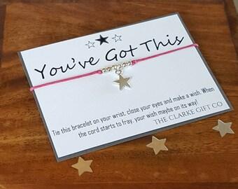 Friendship bracelet - star charm - Good Luck gift - You've got this - Wish bracelet - bracelet - Motivation gift - Inspiration gift
